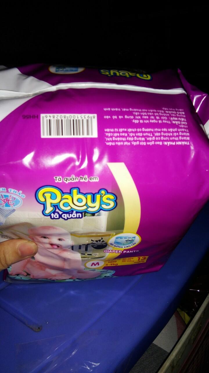 Hình ảnh Giảm giá 100 miếng +KM4 miéng bỉm quần Pabys cỡ M cho bé 5-9kg