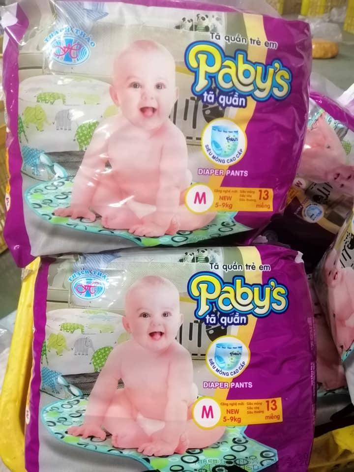 Giảm giá 100 miếng +KM4 miéng bỉm quần Pabys cỡ M cho bé 5-9kg
