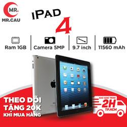 Máy tính bảng Apple IPAD 4 - 16GB -Bản WIFI, ZOOM HỌC ONLINE , LÀM VIỆC, GAME ONLINE GIẢI TRÍ RAM 1G, Chip Apple A6X, 1.4 GHz, IOS 10, tặng ốp lưng và phụ kiện Bảo hành 6 tháng , MR CAU - IPAD _4_WIFI