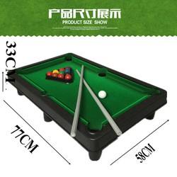Bida Mini - Mặt bàn Vải Nỉ - 15 bi đánh số + 2 Gậy + 1 Tẩy - Kích thước 51*31*10cm