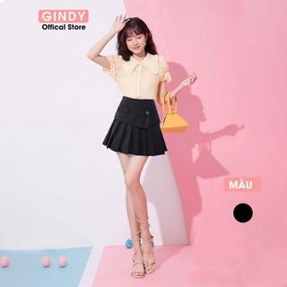 Chân váy ngắn xếp ly chất tuyết mưa GINDY ngân hạnh eo cao phong cách thời trang hè 2021 - V5145 thumbnail