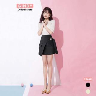 Chân váy nữ chữ A GINDY thiết kế đai chéo cách điệu phong cách trẻ trung hàng thiết kế - V5130 thumbnail