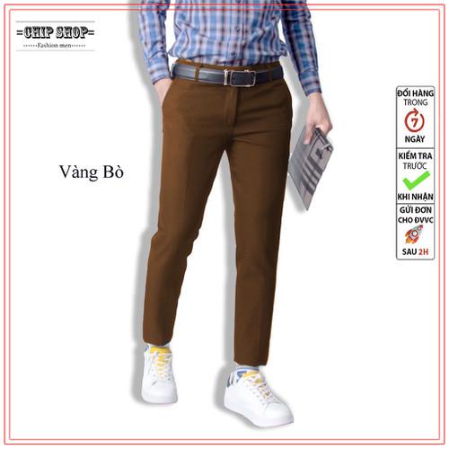 (Size từ 28 đến 35) Quần tây nam vải slex chống nhăn , không xù