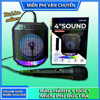 Loa bluetooth hát karaoke ALP 401, tặng kèm mic, bluetooth 5.0, hôc trợ thẻ nhớ, usb, kết nối AUX, âm lượng lớn, âm thanh cực hay, loa karaoke - loa bluetooth karaoke ALP-401 thumbnail