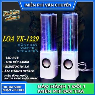 Loa bluetooth nước nhảy theo điệu nhac, hiệu ứng nước phun với led RGB, bluetooth 5.0, âm thanh stereo, tương thích mọi thiết bị - loa nước Yk-1229 thumbnail