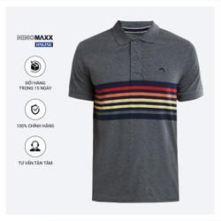 Áo Phông Nam Ninomaxx có cổ màu xám đậm dáng Regular Fit 100% Cotton