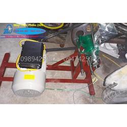 Máy làm bánh ống mô tơ 220v dây đồng lắp đầu 7 kiểu bỏng trung quốc