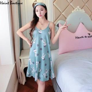 Váy 2 dây, đầm mặc nhà Haint Boutique hình thỏ cute Vn29 - vn29 thumbnail