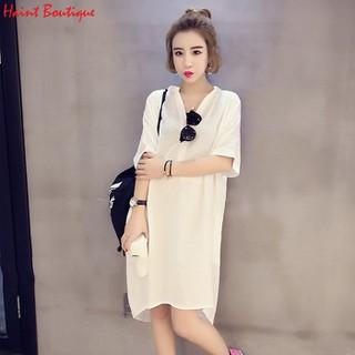 Đầm sơ mi nữ Haint Boutique dáng suông form rộng trẻ trung Da32 - da32 thumbnail