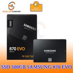SSD 500GB Samsung 870 EVO SATA III 6Gb/s 560MB/530MB Chính hãng Vĩnh Xuân Phân Phối