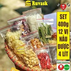 (GIÁ dùng thử) 1 set nguyên liệu nấu chè dưỡng nhan loại 400G
