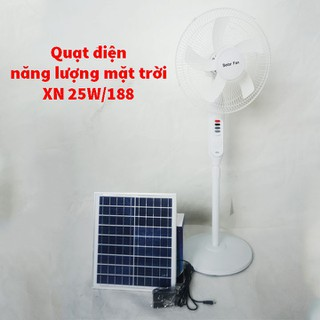 Quạt điện năng lượng mặt trời cao cấp XN 25W 188 bảo hành chính hãng 12 tháng - XN 25W 188 thumbnail