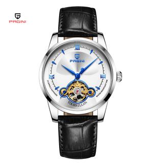 [Fullbox] Đồng hồ cơ nam automatic PAGINI lộ máy PA19966 hàng chính hãng - Ba o ha nh 12 Tháng - PA019966B thumbnail