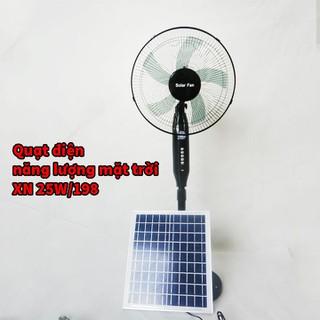 Quạt điện năng lượng mặt trời cao cấp XN 25W 198 bảo hành chính hãng 12 tháng - XN 25W 198 thumbnail