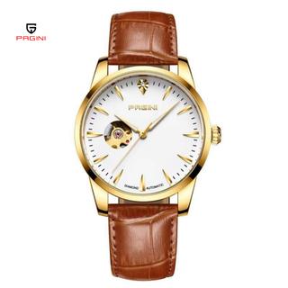 [Fullbox] Đồng hồ cơ nam chính hãng PAGINI lộ máy PA9988 dây da cao cấp có kim dạ quang - Bảo Hành 12 Tháng - PA009988N thumbnail