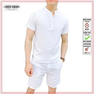 Đồ bộ áo quần nam mùa hè mát mẽ - siêu nhẹ - đồ bộ đũi thumbnail