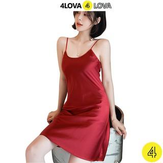 Váy ngủ 2 dây lụa satin cao cấp 4Lova mềm mịn - AN001 thumbnail