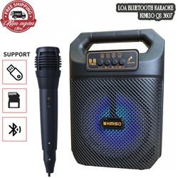 Loa bluetooth kèm mic hát MK-601, Kiểu dáng xách tay nhỏ gọn - Âm thanh cực hay