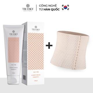 Bộ sản phẩm tan mỡ bụng Truesky gồm 1 kem tan mỡ bụng quế gừng Version 2 100ml + 1 đai nịt bụng quấn nóng cao cấp - T_TM2_DNB thumbnail