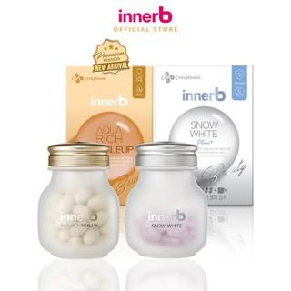 Bộ đôi thực phẩm bảo vệ sức khỏe InnerB Aqua Rich Doubleup (56 viên) & InnerB Snow White (28 G 20EA CT) - TUINB00036CB thumbnail