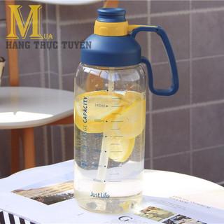 [SIÊU TO 1.8L] Bình nước thể thao dung tích lớn 1800ml có ống hút- Bình nước tập gym- Bình nước du lịch loại lớn- Bình nước cầm tay - 816_45352184 thumbnail