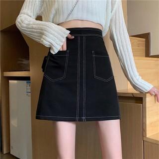 Chân váy chữ a ngắn viền chỉ nổi phong cách, chân váy ngắn trên gối có quần lót trong kín đáo, năng động (Có ảnh thật) - Chan_vay_chuA_vien_chi thumbnail