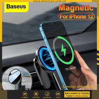 Đế giữ điện thoại tích hợp nam châm và Sạc không dây dùng trên xe ô tô Baseus Big Energy Car Mount Wireless Charger (15W, Magsafe Wireless Quick Charger and Holder for Car) - WXJN-01 thumbnail