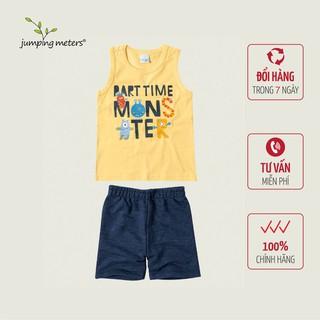 Bộ quần áo hè bé nam in chữ TC4 Jumping meters - 6420_45361897 thumbnail