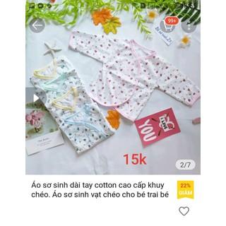 áo sơ sinh vạt chéo cho bé - 6370_45366546 thumbnail