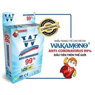 Khẩu Trang WAKAMONO Cho Trẻ Em (4 lớp,hộp 10 cái,thùng170 hộp) - 115 thumbnail