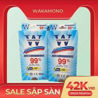 [Siêu rẻ] Khẩu trang y tế Wakamono (cam kết chính hãng, tem mác đầy đủ, hình thật) - DTN05 thumbnail