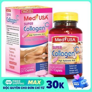 [Hộp 60 viên] VIÊN UỐNG ĐẸP DA MEDIUSA COLLAGEN +C -Với thành phần Collagen 120mg.sữa ong chúa, nhau thai cừu- giúp chống lão hóa, giảm thâm nám,ngăn ngừa nếp nhăn , tàn nhang - MEDIUSA COLLAGEN +C - COLAGEN02 thumbnail