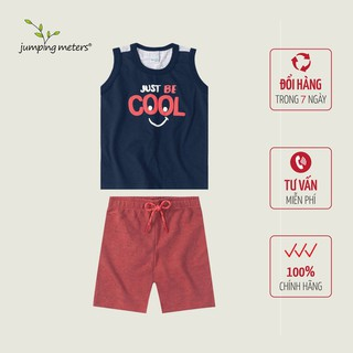 Bộ quần áo hè bé nam in chữ TC1 Jumping meters - 6420_45362945 thumbnail