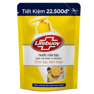 Nước Rửa Tay Diệt Khuẩn Lifebuoy Cho Tay Làm Bếp Túi (450g) - RUATAY00001 thumbnail