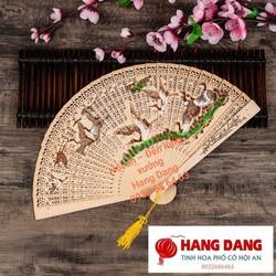 Quạt GỖ thơm cổ trang12 MẪU cổ phong  (FREESHIP) xếp cầm tay phong cách Trung Quốc