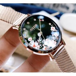 Đồng hồ nữ Julius JA-1164LG dây thép mặt số in hoa - JA-1164LG 2