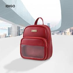 Balo nữ đeo chéo chữ nhật phối ngăn trong suốt IDIGO FBP2 - 3366 - 00