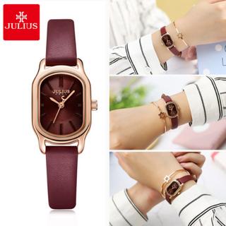 Đồng hồ nữ Julius JA-1112D mặt oval màu đỏ đô xinh xắn - 1374_46002429 thumbnail