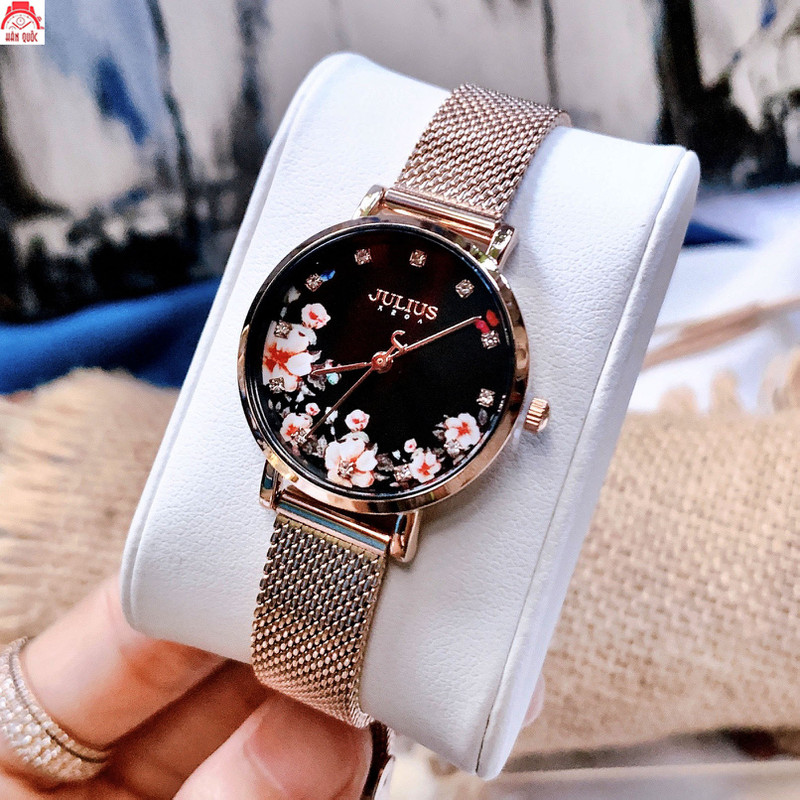 Đồng hồ nữ Julius JA-1164LG dây thép mặt số in hoa - JA-1164LG 1
