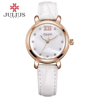 Đồng hồ nữ Julius JA-945 dây da mặt khảm trai - 1374_46009502 thumbnail