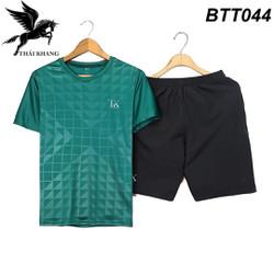 Bộ quần áo thể thao nam vải thun mềm siêu mát loại đồ bộ thể thao thun lạnh mặt thoải mái BTT 04