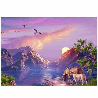 Tranh đính đá đôi ngựa và hoàng hôn - 5D2 thumbnail