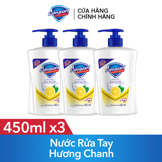 Combo 3 Nước Rửa Tay Safeguard Hương Chanh 450ml - TUSG00014CB thumbnail