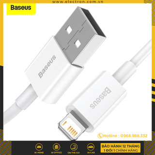 Cáp sạc lightning Baseus Superior Series Fast Charging Data Cable cho iPhone iPad (2.4A, 480Mbps, Fast charge, ABS TPE Cable) - CALYS-A02 thumbnail