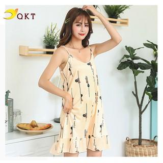 Đầm 2 dây nữ QKT đầm mặc nhà họa tiết trẻ VN38 - 1942_46298984 thumbnail