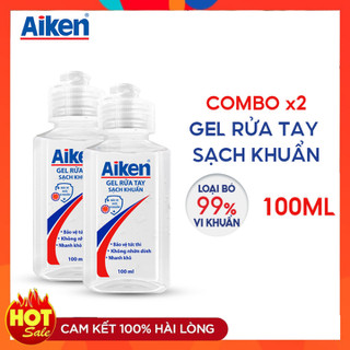 Combo 2 Gel rửa tay sạch khuẩn Aiken 100ml chai - 68ZywUeaHYVPrbapzqRwgz thumbnail