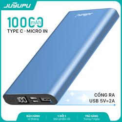Sạc dự phòng JUYUPU PR-5C 10000mAh màn hình hiển thị cho iPhone Samsung OPPO VIVO HUAWEI XIAOMI pin sạc dự phòng