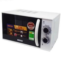 Lò vi sóng 20L Matika MTK-9220 có 3 chức năng: Nướng hâm nóng rã g thức ăn tự cài đặt theo trọng lượng