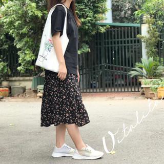 Chân váy hoa nhí Vintage vải voan 2 lớp eo chun dáng dài phong cách Ulzzang Hàn Quốc - MIX đồ cực xinh - CVHN thumbnail