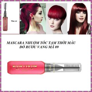 Nhuộm tóc tạm thời OHICO 10ml màu đỏ vang dạng mascara - MS 09 - Mascara red thumbnail
